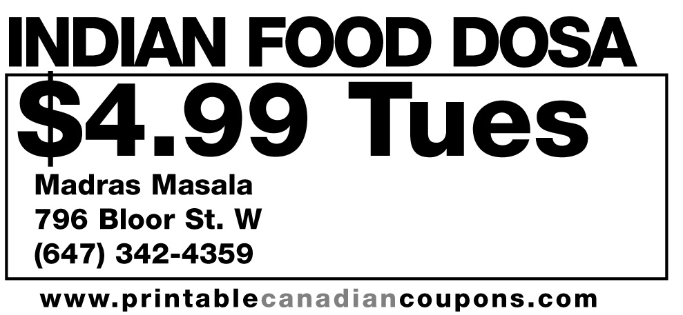 Dining coupons toronto